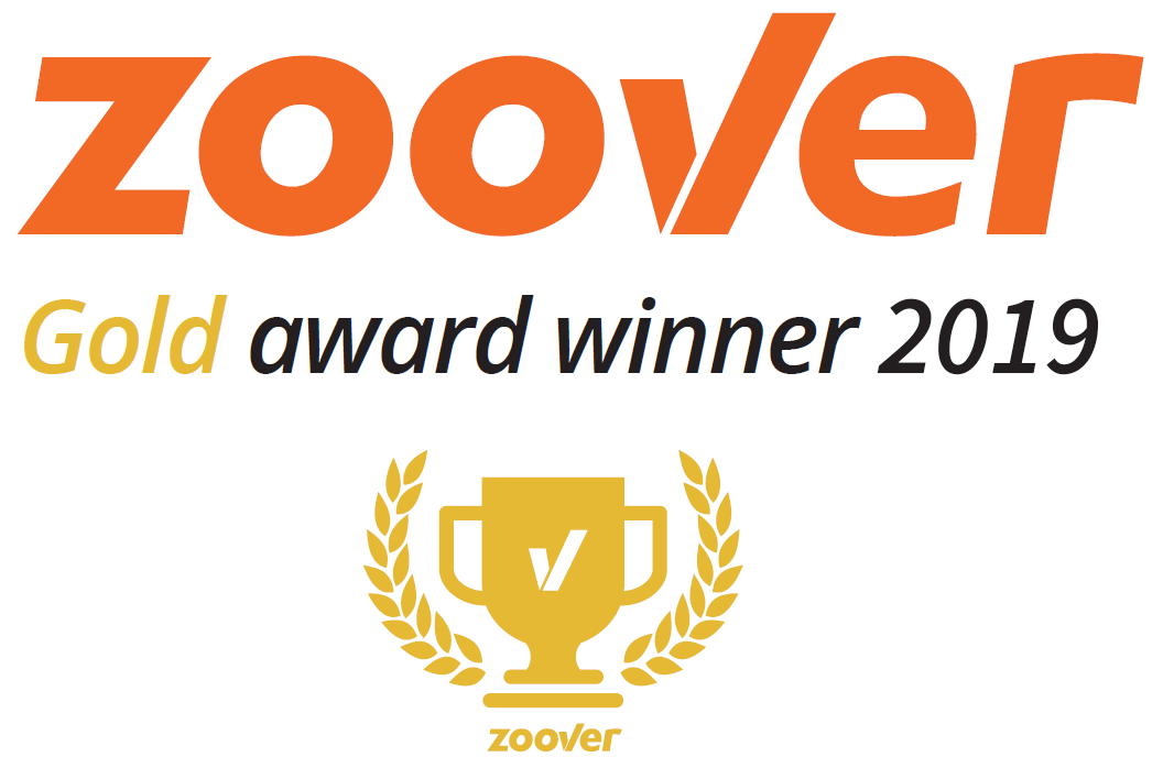 Zoover Awards Gold Banner Large